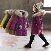 女童棉身2019新款冬裝兒童洋氣中長款羽絨棉服小女孩加厚棉襖外套