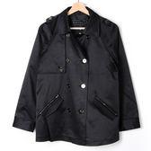 【MASTINA】排釦風衣外套-黑  外套限時特賣