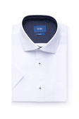 SST&C 男裝 紋理白色短袖襯衫 | 0412004004