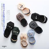 短襪 復古 蝴蝶結 小花 淺口 船型襪【KCTWZ23】 BOBI  03/09