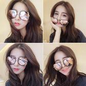 2018新款圓形彩色太陽鏡女圓臉韓國復古眼鏡ys181『毛菇小象』