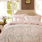【Jenny Silk名床】狄安娜.100%天絲.超柔細.加大雙人鋪棉床包組兩用鋪棉被套全套