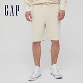 Gap男裝 碳素軟磨系列 法式圈織簡約運動短褲 825305-米黃色