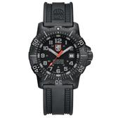 LUMINOX 雷明時 ANU 海豹部隊認證系列腕錶-黑x灰時標/45mm