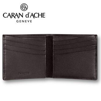 CARAN d'ACHE 瑞士卡達 CdA小牛皮紳士皮夾. 黑檀(8卡) / 個