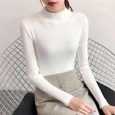 秋冬季2018新款半高領套頭短款毛衣女韓版修身緊身長袖打底針織衫