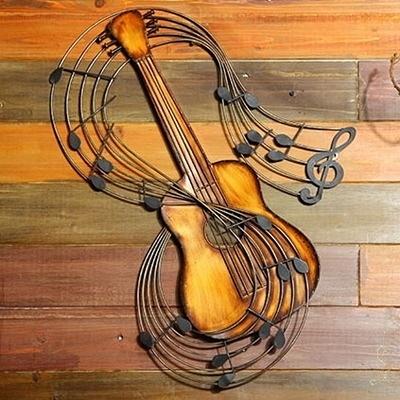 壁掛擺飾-復古做舊樂器立體居家掛飾擺件用品2款73a3【時尚巴黎】