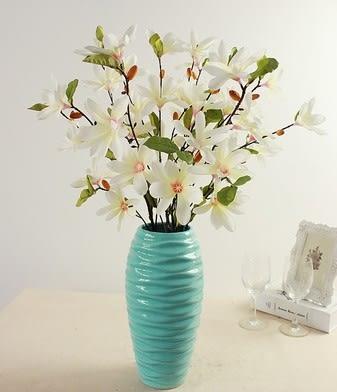 [協貿國際]陶瓷裝飾品花瓶檯面擺件現代簡約純白套裝家居酒店裝飾花跳舞蘭1套入