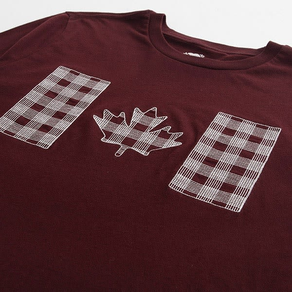 Roots-男裝-ROOTS  蘇格蘭紋長袖T恤 - 紅色