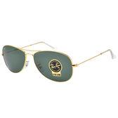 原廠公司貨-【Ray-Ban 雷朋 太陽眼鏡】3362-001-59經典飛官太陽眼鏡-強化玻璃鏡片(#金邊)