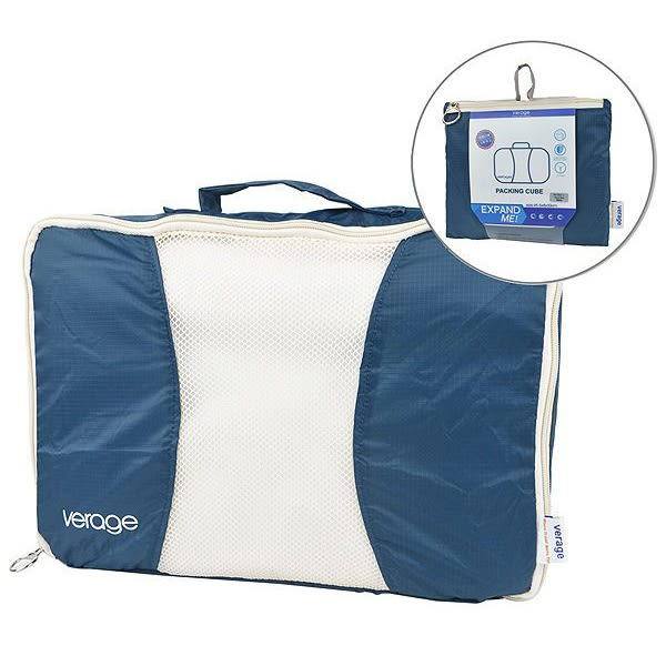 Verage 旅用衣物收納袋『藍/L』( 2入) 379-5023  旅行 露營 商務 收納