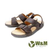 W&M(男)皮質黏扣帶涼拖鞋 男鞋 - 咖(另有黑)