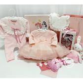 秋季攝影女寶寶百天周歲禮服連身裙小禮服蕾絲套裝禮物嬰兒禮盒新 WY【全館鉅惠85折】