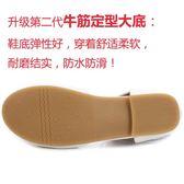 女童涼鞋夏新款真皮兒童中大童包頭小孩公主鞋軟底白鏤空單鞋【居享優品】