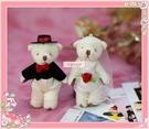 一定要幸福哦~~甜蜜婚紗對熊~婚禮小物、小熊