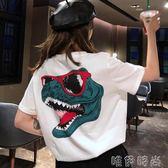 短袖 原宿短袖T恤女夏韓版學生潮人百搭超火半袖上衣服 時尚新品