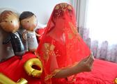 婚慶結婚用品道具新人蓋頭紗大紅流蘇蕾絲