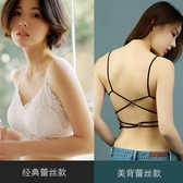 蕾絲抹胸內衣性感聚攏防走光裹胸式打底白色帶胸墊美背吊帶小背心