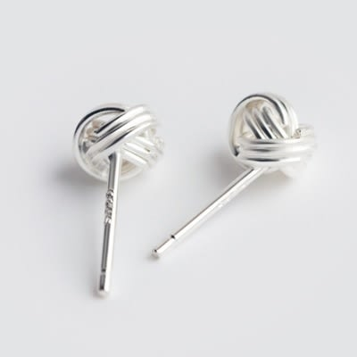 925純銀耳環(耳針式)-創意毛線球生日情人節禮物女飾品73dr134[時尚巴黎]