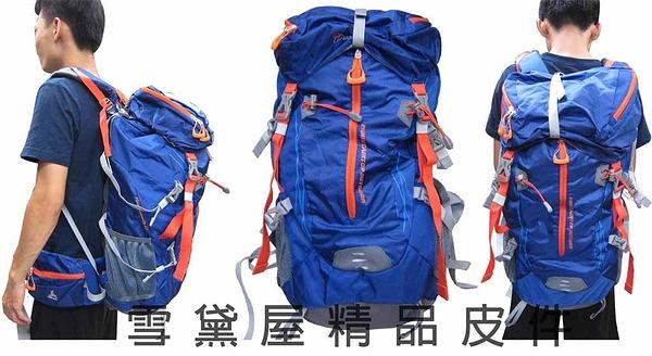~雪黛屋~Mountaintop 後背包可調整耐磨超輕50L登山包附雨衣罩內撐板可拆防水尼龍MPA6910
