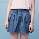 a la sha+a 荷葉腰頭大口袋短裙