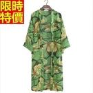 和服外套-雪紡長款樹葉印花和風防曬女罩衫68af6【時尚巴黎】