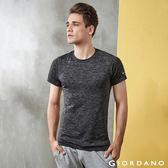 【GIORDANO】男裝COOLMAX側身無縫透氣運動短袖T恤-90 雪花黑