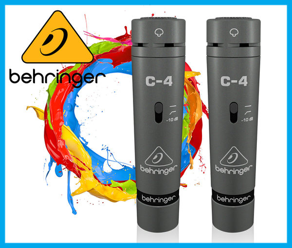 【小麥老師 樂器館】Behringer 耳朵牌 C-4 電容式 麥克風 錄音 C4