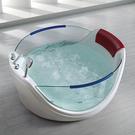 【麗室衛浴】BATHTUB WORLD 獨家擁有獨立型 豪華透明按摩浴缸 7085  多種出水按摩方式