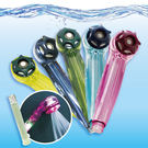 《Motely魔特萊》百變加壓水晶透明蓮蓬頭(8ST)+LED溫控感溫變色棒( 1支 ) LED變色棒感溫棒