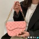斜背包 法式小眾包包女夏百搭2021網紅新款潮時尚單肩斜背包設計感馬鞍包 榮耀 上新