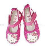 【KP】休閒鞋 兒童 三麗鷗HELLO KITTY 甜甜圈造型 魔鬼氈 桃紅 正版授權 716209