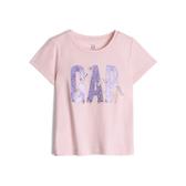 Gap女幼棉質舒適圓領短袖T恤539789-冰粉色