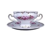 德國Weimar凱瑟琳娜系列 - 經典玫瑰300ml湯碗+盤組