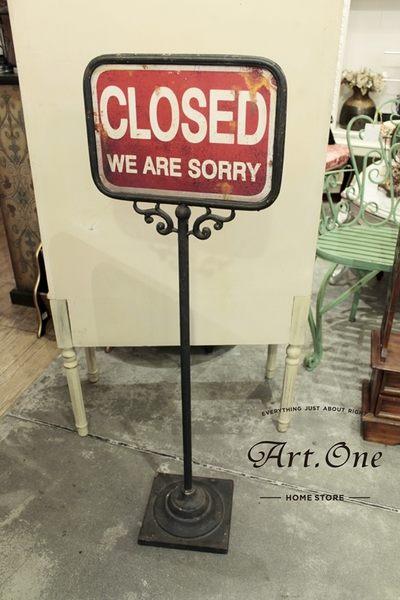ART ONE 居家設計館 AW137033 OPEN CLOSED 歐式雙面立牌