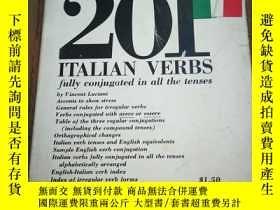 二手書博民逛書店201罕見ITALIAN VERBS FULLY CONJUGA