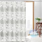 浴簾 浴室浴簾布加厚防水防霉浴簾衛生間浴簾套裝免打孔伸縮桿窗簾隔斷T 1色