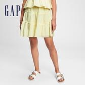 Gap女童 清新碎花A字短裙 687187-淺黃色