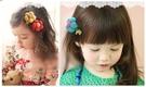 台灣現貨童裝  大花朵髮夾/對夾/兒童髮夾 多色隨機出【F06】
