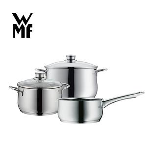 福利品【WMF】DIADEM PLUS 鍋具三件組(高身湯鍋含蓋20cm+高