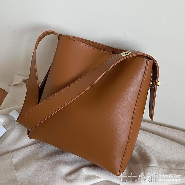 托特包 2020韓版新款包包托特包潮子母包水桶包時尚百搭單肩斜挎包