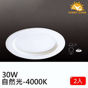 HONEY COMB 大尺寸LED 30W 崁燈 單入TK0434-30-4 自然光