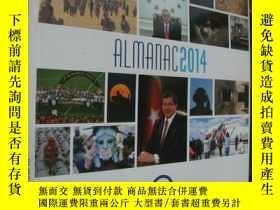 二手書博民逛書店ALMANAC罕見2014 (2014國際重大事件圖文錄,含許多