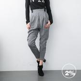 【2%】2%顯瘦腰部伸縮休閒褲-兩色