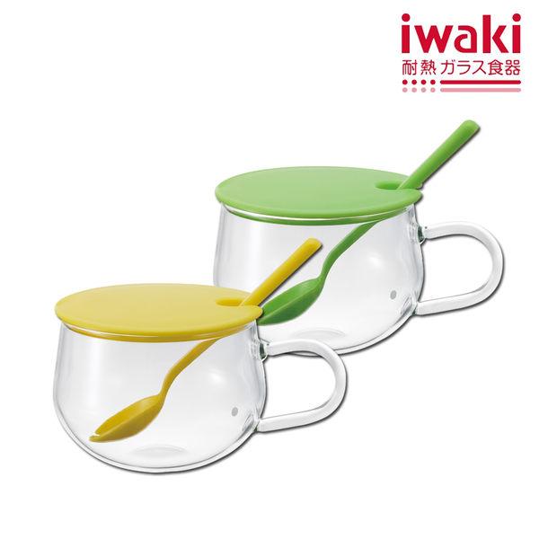 【iwaki】日本品牌耐熱玻璃微波調理杯300ml(兩色任選)