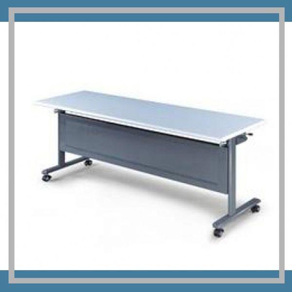 【必購網OA辦公傢俱】KB-1860G 黑銀骨架 灰桌板 會議桌