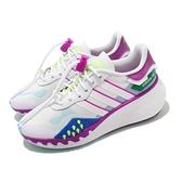 adidas 休閒鞋 Choigo W 白 紫 藍 綠 抽繩鞋帶 女鞋 愛迪達 三葉草 【ACS】 FY6501