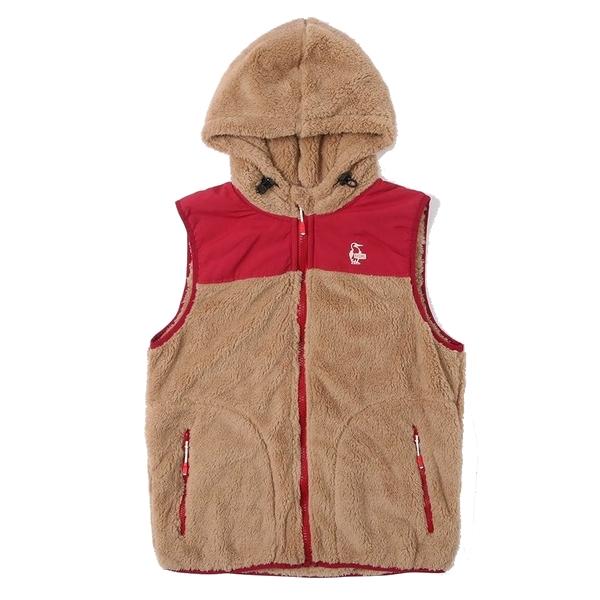 CHUMS Elmo Fleece 刷毛保暖背心外套 棕/紅 CH141244B047【GO WILD】