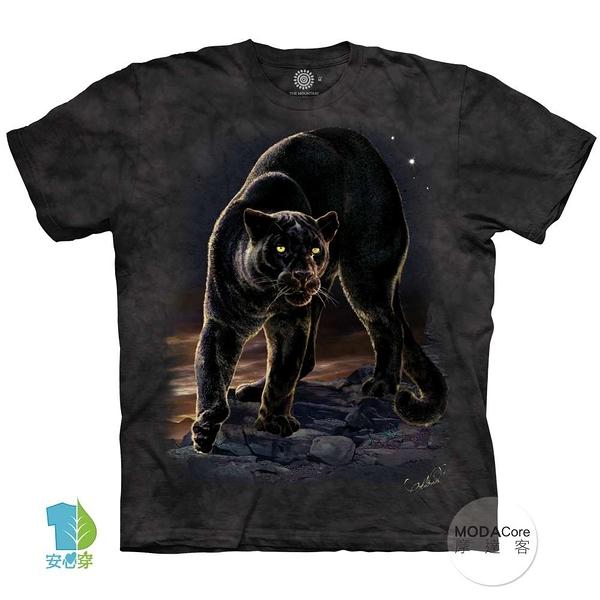 摩達客-(預購)(大尺碼3XL)美國進口The Mountain 黑豹像 純棉環保藝術中性短袖T恤
