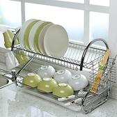 瀝水架 兩層廚房置物架收納架餐具落地瀝水架碗碟架三層碗架碗盤儲物神器 【夏日新品】